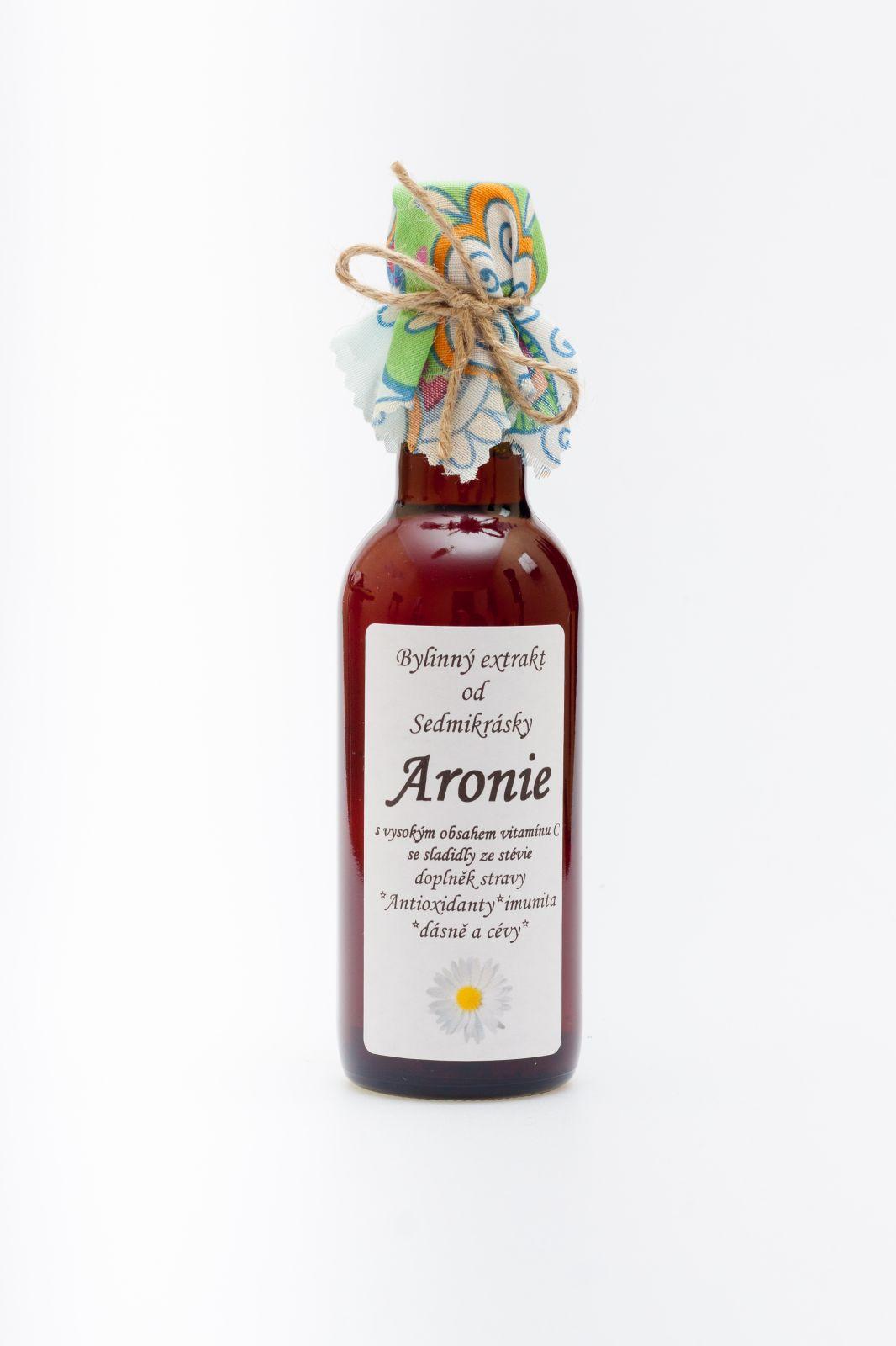 Sedmikráska bylinný extrakt Aronie 250ml antioxidanty, imunita, dásně, kůže, zuby, cévy a chrupavky, doplněk stravy Rodinná farma Sedmikráska