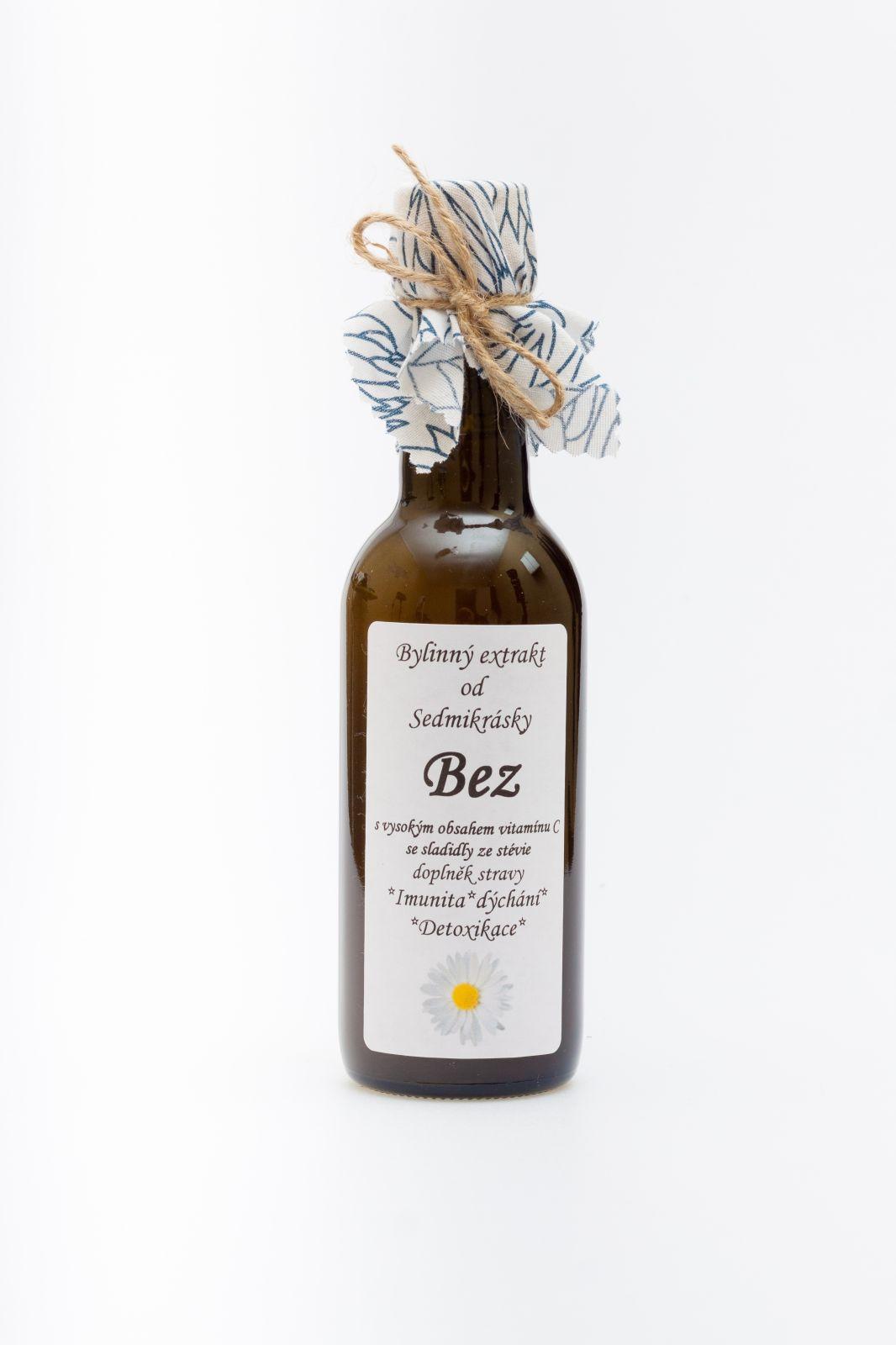 Sedmikráska bylinný extrak Bez 250ml imunita, dýchání, detoxikace doplněk stravy Rodinná farma Sedmikráska