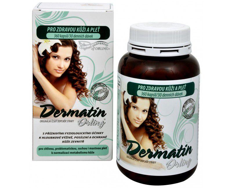 DERMATIN ORLING® - specifická superkomplexní formule ke komplexní výživě kůže zevnitř ORLING s.r.o. Ústí nad Orlicí