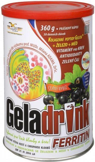 GELADRINK FERRITIN nápoj - únava, zvýšená potřeba železa ORLING s.r.o. Ústí nad Orlicí