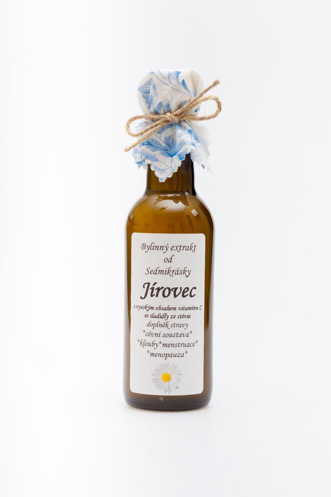 Sedmikráska bylinný extrakt Jírovec 250ml cévní soustava, antioxidant, klouby, menstruace a menopauza doplňek stravy Rodinná farma Sedmikráska