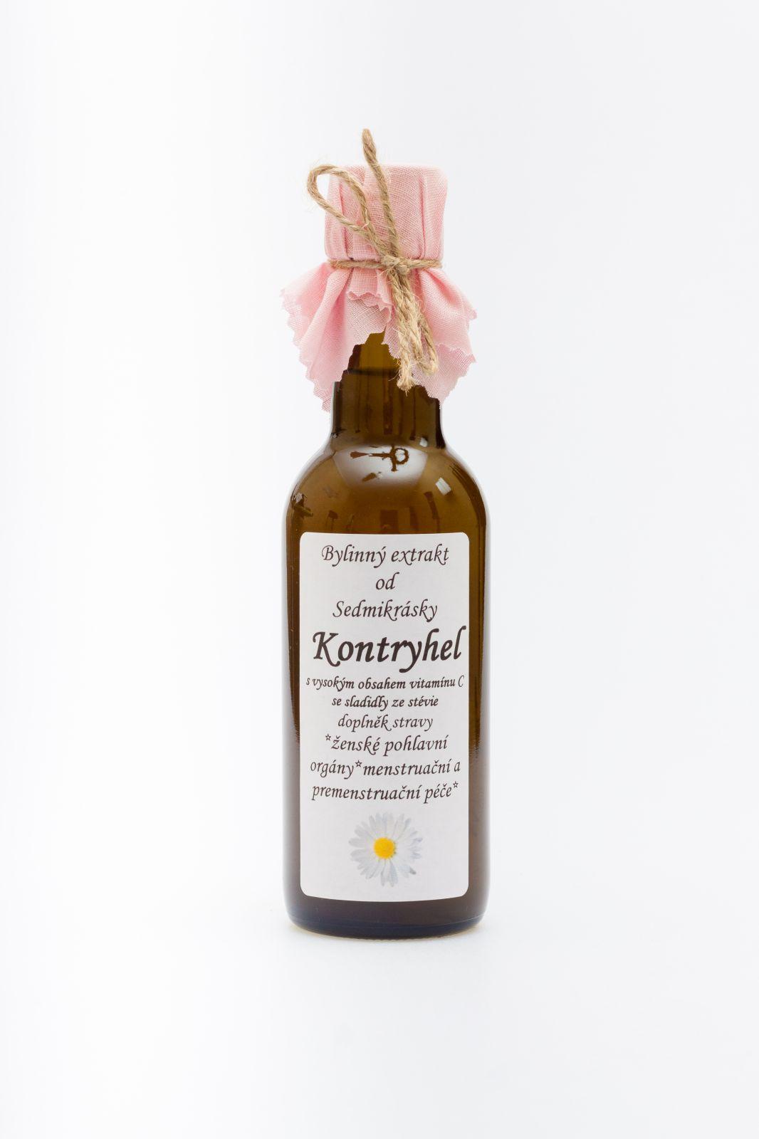 Sedmikráska bylinný extrakt Kontryhel 250ml ženské pohlavní orgány, menstruační a premenstruační péče doplněk stravy Rodinná farma Sedmikráska