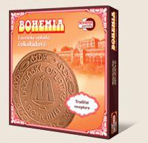 Lázeňské oplatky BOHEMIA čokoládové jsou výráběny dle tradiční receptury Bohemia speciality s.r.o.
