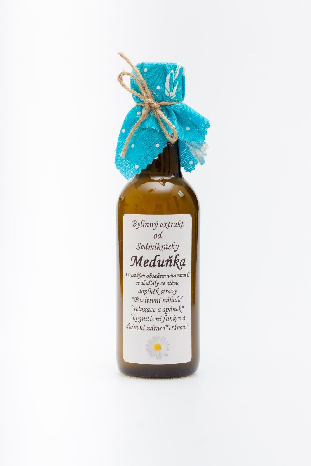 Sedmikráska bylinný extrakt Meduňka 250ml pozitivní nálada, relaxace a spánek, kognitivní funkce a duševní zdraví, trávení doplněk stravy Rodinná farma Sedmikráska