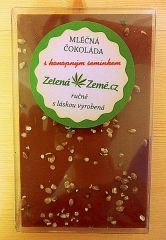 Mléčná čokoláda s konopným semínkem 100g