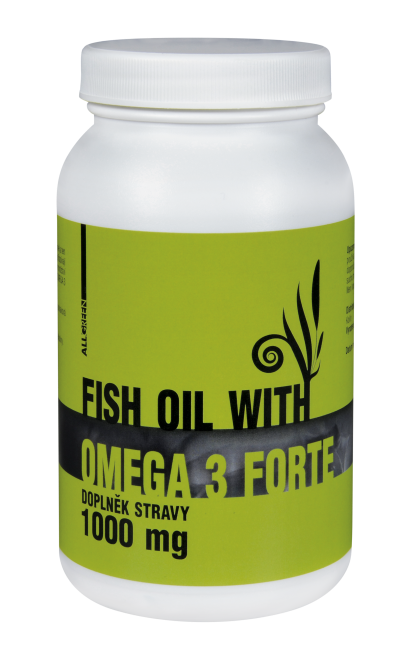 Fish oil with Omega-3 Forte 1000mg 90 kapsúl ALL GREEN