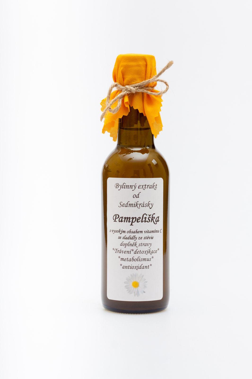 Sedmikráska bylinný extrakt Pampeliška 250ml trávení, energetický metabolismus, detoxikace, antioxidant doplněk stravy Rodinná farma Sedmikráska