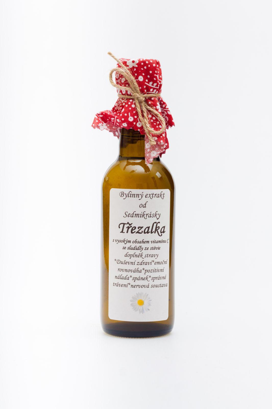Sedmikráska bylinný extrakt Třezalka 250ml duševní zdraví, emoční rovnováha, pozitivní nálada, spánek, správné trávení, nervová soustava doplněk stravy Rodinná farma Sedmikráska