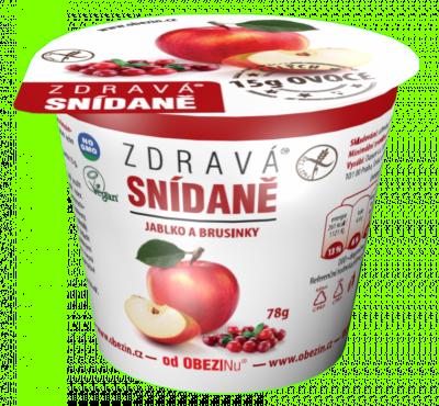 Zdravá snídaně Jablko a brusinky 78 g Danare a.s.