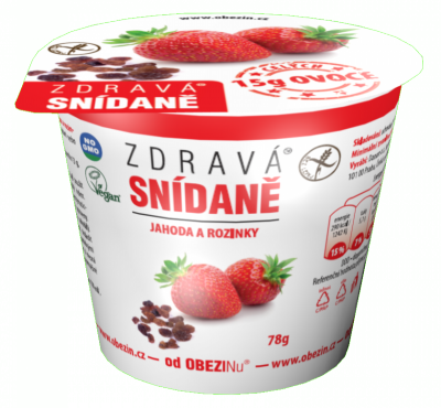 Zdravá snídaně jahoda a rozinky 78 g Danare a.s.