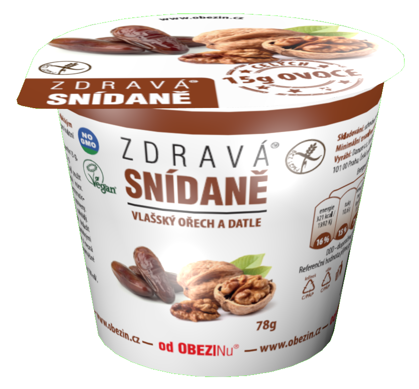 Zdravá snídaně Vlašský ořech a datle 78 g Danare a.s.
