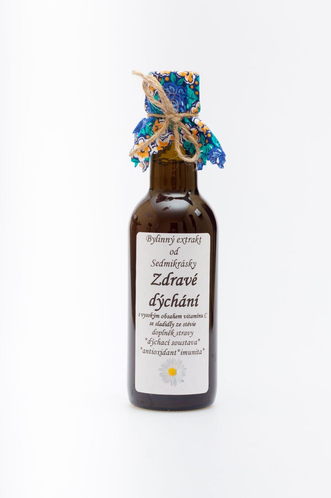 Sedmikráska bylinný extrakt Zdravé dýchání 250ml dýchací soustava, antioxidant, imunita doplněk stravy Rodinná farma Sedmikráska