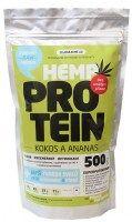 Zelená země Konopný protein s kokosem a ananasem - vysoce kvalitní kompletní bílkovina 1000 g Zelená Země s.r.o.