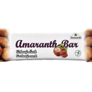 Tyčinka Amaranth Bar lískový ořech 30gr Natural Bars