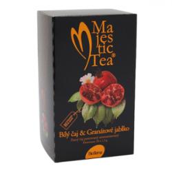 Majestic Tea Bílý čaj & Granátové jablko 20 x 2,5 g