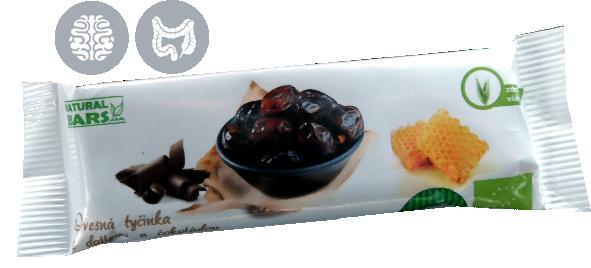 Bio Ovesná tyčinka s datlemi a čokoládou 30 g Naturál Bars