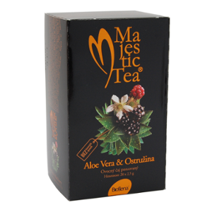 Biogena Majestic Tea Aloe Vera & Ostružina20 x 2,5 g Bylinný čaj aromatizovaný, porcovaný . Biogena CB s.r.o.