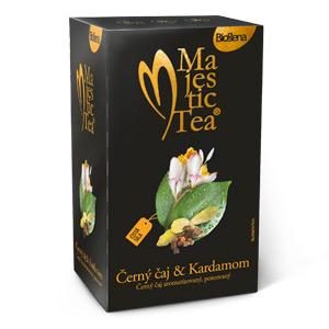 Biogena Majestic Tea Černý čaj & Kardamom 20x1,5g Černý čaj aromatizovaný, porcovaný. Biogena CB s.r.o.