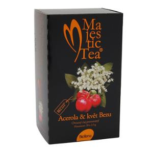 Biogena Majestic Tea Acerola & květ Bezu 20x2,5g Bylinný čaj aromatizovaný, porcovaný. Biogena CB s.r.o.