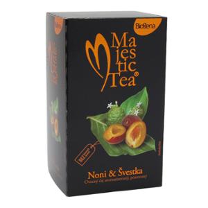 Biogena Majestic Tea Noni & švestka 20 x 2,5g Ovocno - bylinná směs plná chuti sladkých švestek a exotického noni. Biogena CB s.r.o.