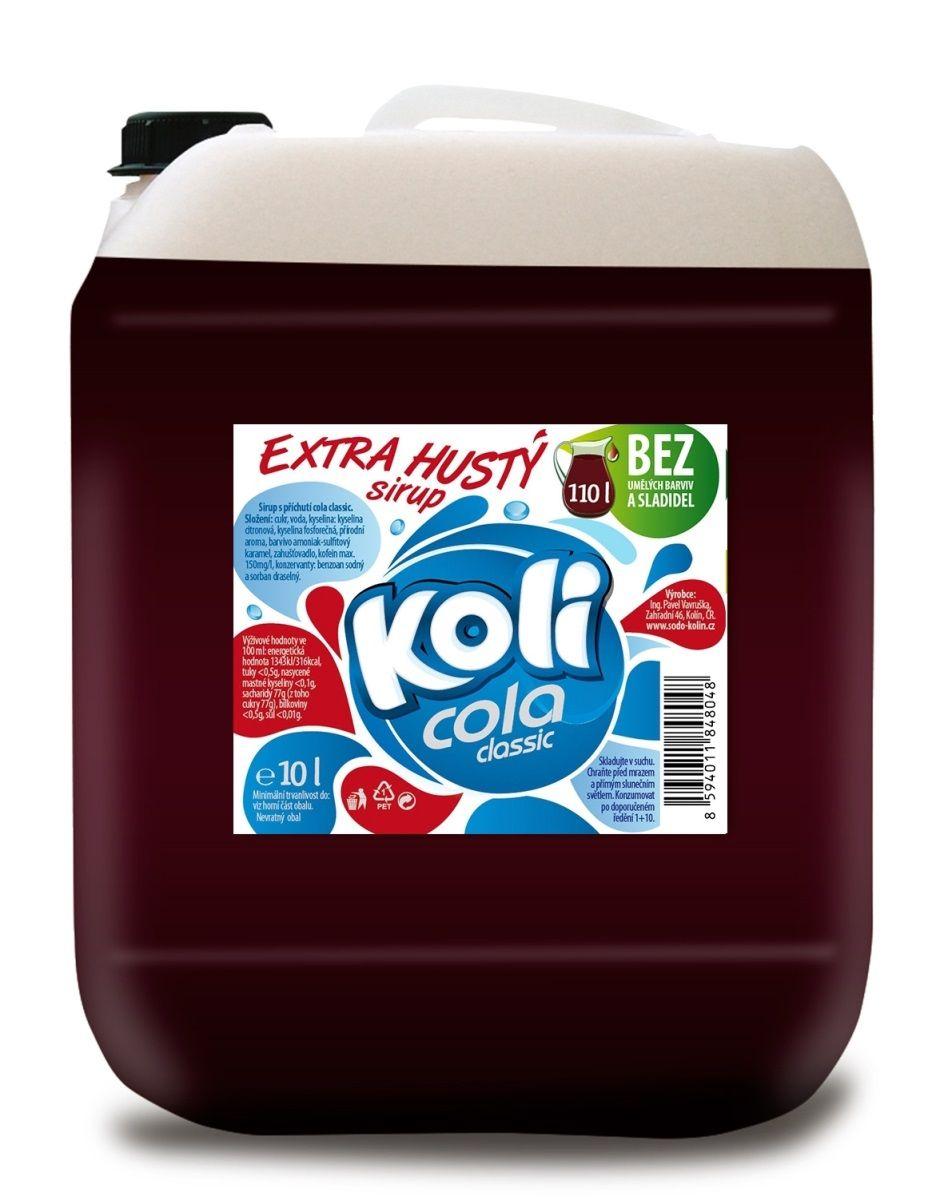 Koli sirup EXTRA hustý 10lt cola classic Klasická Koli cola s obsahem kofeinu. Sodovkárna Kolín