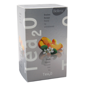 Biogena Tea2O Broskev & Bacopa 20x2,5g Ovocný čaj aromatizovaný, porcovaný. Biogena CB s.r.o.
