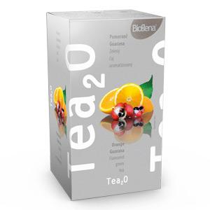 Biogena Tea2O Pomeranč & Guarana 20x1,6g Ovocný čaj aromatizovaný, porcovaný. Biogena CB s.r.o.