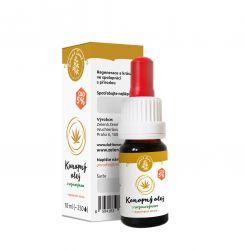 Zelená země CBD konopný olej s rozmarýnem - regenerační sérum na kůži - certifikovaná kosmetika. Má pozitivní vliv na obnovu buněk pokožky. Obsah 10 ml. Zelená Země s.r.o.