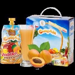 Ovocňák - mošt 100% jablko+meruňka 250ml 80% jablečná šťáva a 20% meruňková šťáva