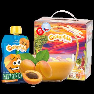 Ovocňák - Pyré jablko+meruňka 120 ml 80% jablečná a 20% meruňková dřeň