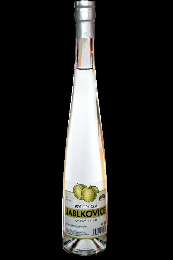 Podorlická sodovkárna - Jabkovice 50 % 0,5 l -ovocný destilát Podorlická sodovkárna Rychnov n/ Kněžnou
