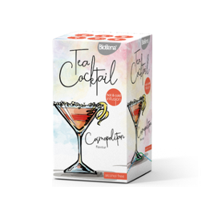 Biogena Tea Cocktail Cosmopolitan Flavour 20 x 2,5 g. Bylinný čaj aromatizovaný, porcovaný. Biogena CB s.r.o.