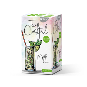 Biogena Tea Cocktail Mojito Flavour 20 x 2,3 g. Ochucený čaj aromatizovaný, porcovaný. Biogena CB s.r.o.