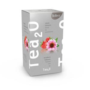 Biogena Tea2O Jahoda & Echinacea 20x2,3g. Ovocný čaj, aromatizovaný, porcovaný. Biogena CB s.r.o.