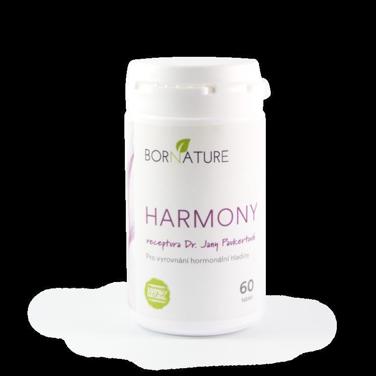 Bornature HARMONY 60 kapsulí Ryze přírodní alternativa pro odstranění klimakterických obtíží, následných problému po vysazení antikoncepce a pro celkovou harmonizaci ženského organismu doplněk stravy