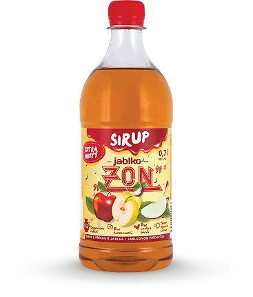 Extra silný sirup ZON s příchutí jablko. Kvalitní sirup s doporučeným ředěním 1:13. ZON Třebíč s.r.o