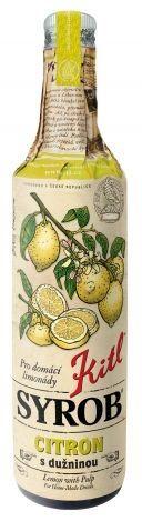 Kitl Syrob Citron 500 ml na 100 ml citrónového sirupu bylo použito 104 ml ovocné šťávy a dužiny