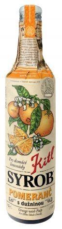 Kitl Syrob Pomeranč 500 ml na 100 ml sirupu bylo použito 108 ml ovocné šťávy a dužniny.