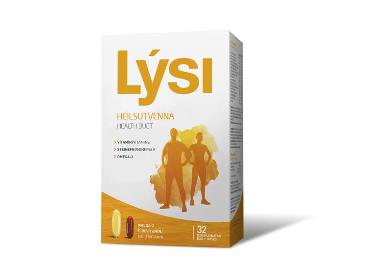 Rybí olej Lýsi - Omega 3 s vitamíny Dvojka pro zdraví, doplněk stravy vhodný pro každodenní užívání.