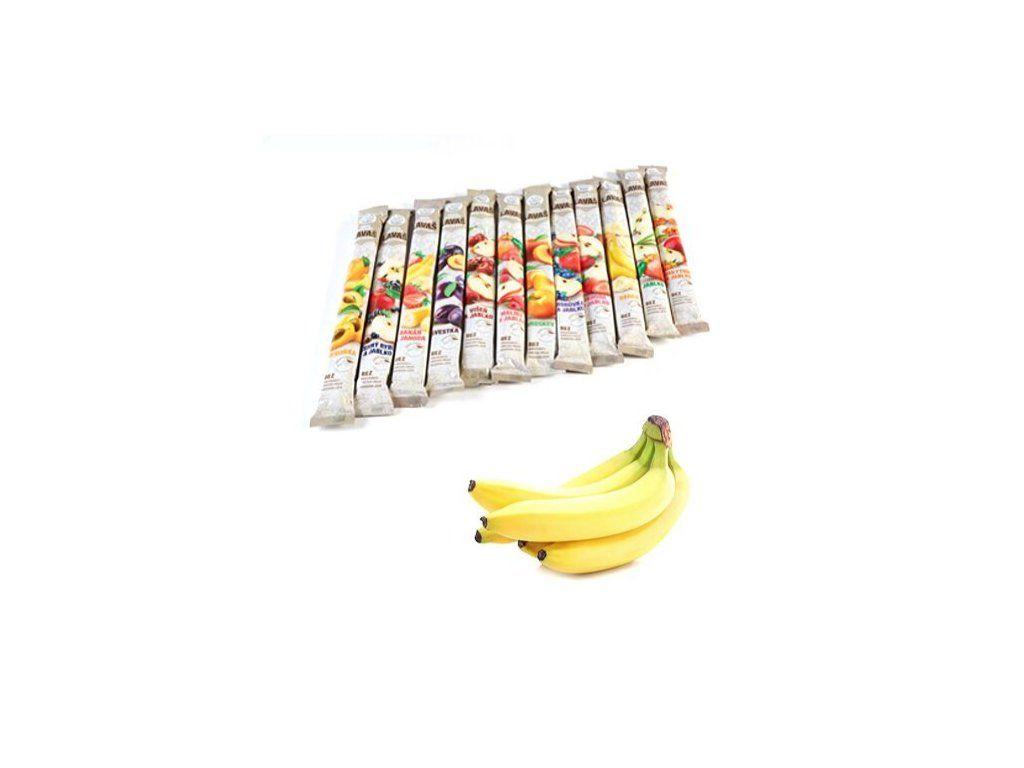 Nara-natur Banán & Jahoda – ovocná trubička NESLAZENÁ - vynikající osvěžující trubička ze 100% banánovo - jahodové šťávy, 33 x 40 cm, 140 g