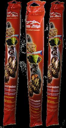 Nara-natur SUDŽUCH sladký - kavzkazská specialita tradiční vynikající tyčinka z hroznové šťávy, s vlašskými ořechy, velmi chutná, délka 40 cm, 200 g