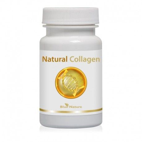 Natural collagen: rybí kolagen + šípek + organická síra (MSM) v kapslích 30ks Blue Nature