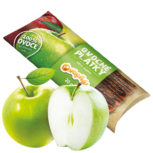 Ovocňák - Ovocné plátky 100% jablko 20g Ovocné plátky jsou vyrobeny pouze z ovoce.