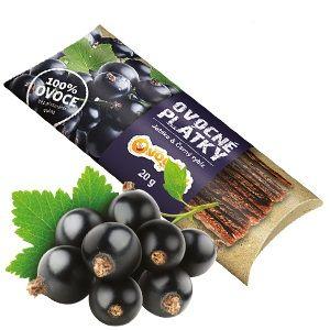 Ovocňák - Ovocné plátky - jablko černý rybíz 20g jablečná dřeň a dřeň z černého rybízu