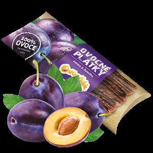 Ovocňák - Ovocné plátky - Jablko švestka 20g jablečná dřen švestková dřeň.
