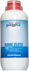 Roztok nano zlata 1 litr Částice zlata (Au) a H 2 O velikosti částic až 18Nm koncentraci 25 ppm.