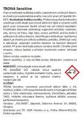Trona prací prášek Sensitive 0,5kg - universální bezfosfátový prací prášek na dětské a jemné prádlo. Polymer Ukrajina