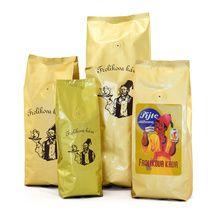 Frolíkova káva Prezident 1000 gr zrnková. Jedná se o specifickou chuť kávy pocházející z Afriky. Jan Frolík - Pražírna kávy