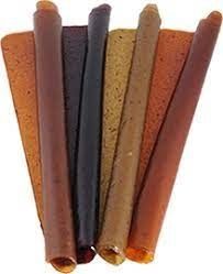 Nara - natur ŠVESTKA ovocná trubička SLAZENÁ - vynikající osvěžující tyčinka ze 100% švestkové šťávy přislazená 140 g Nara-natur
