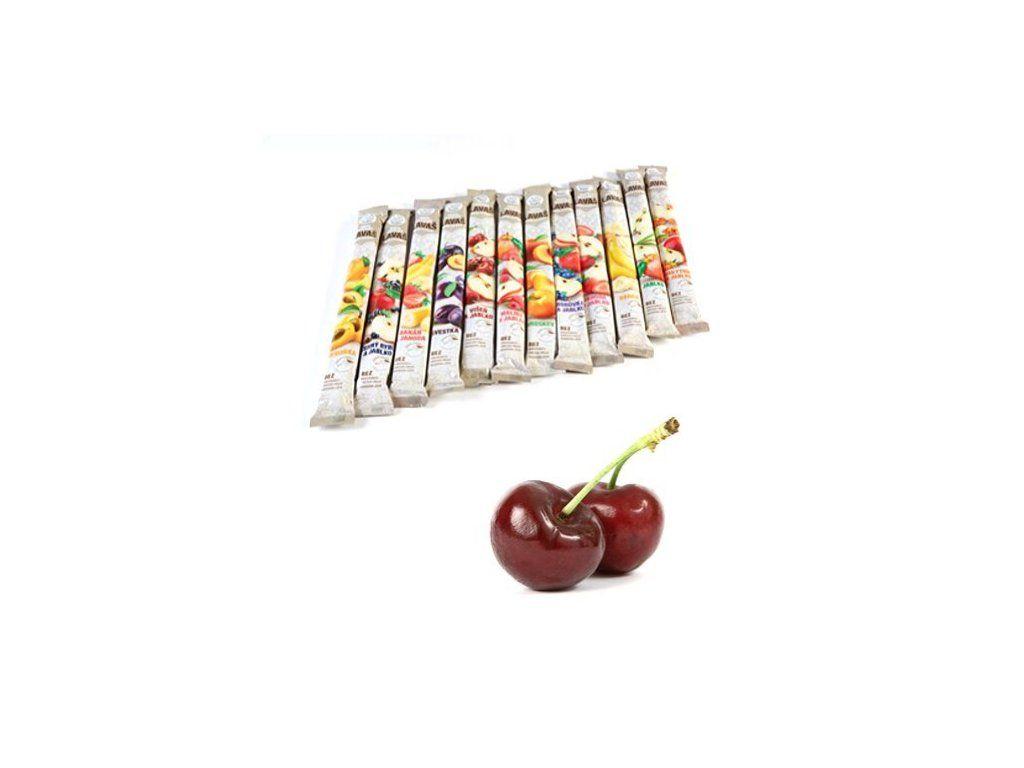 Nara-natur Višeň & Jablko ovocná trubička SLAZENÁ,- vynikající osvěžující tyčinka ze 100% višňovo - jablkové šťávy 33 x 40 cm, min 140 g